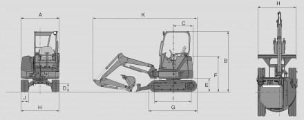 Аренда мини-экскаватора Hitachi ZX 27U-2 в Московской области