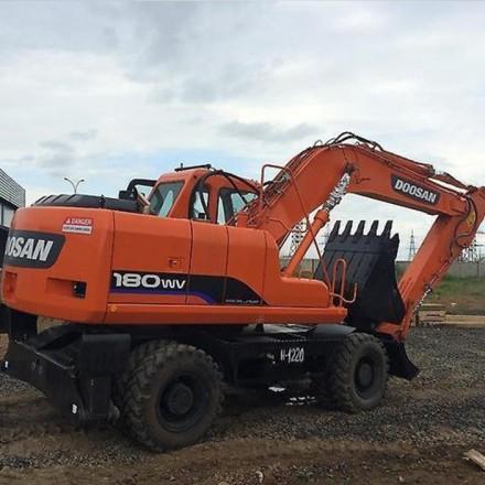 Аренда экскаватора Doosan S180W-V для стройки