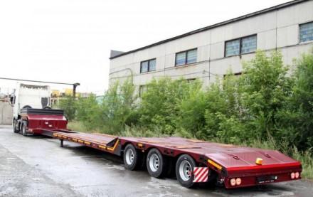 Трал корыто с передним заездом 3 оси 25 тонн 13 м