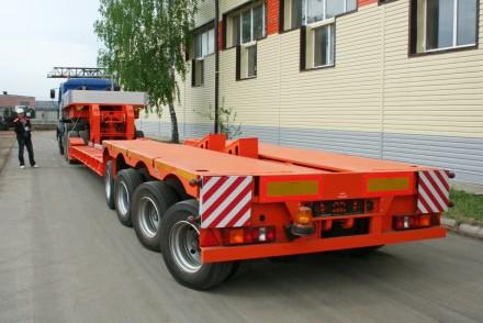 Трал корыто с передним заездом 3 оси 45 тонн 14 м