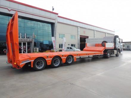 Трал с аппарелями 3 оси 40 тонн 9.5 м