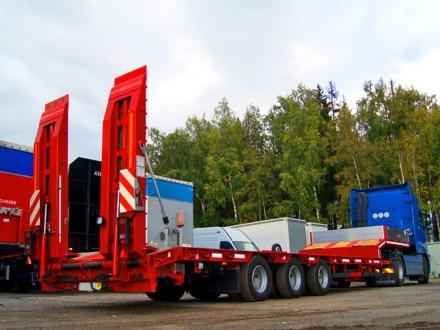 Трал с аппарелями 3 оси 38 тонн 12 м